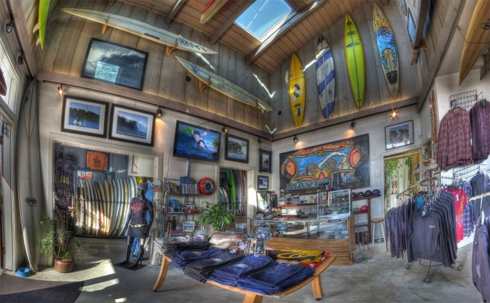 Inside Mavericks Surf Shop