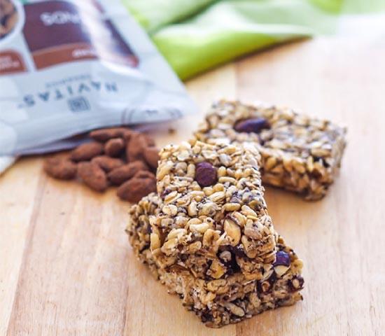 Gluten-Free Cacao Almond Granola Bars