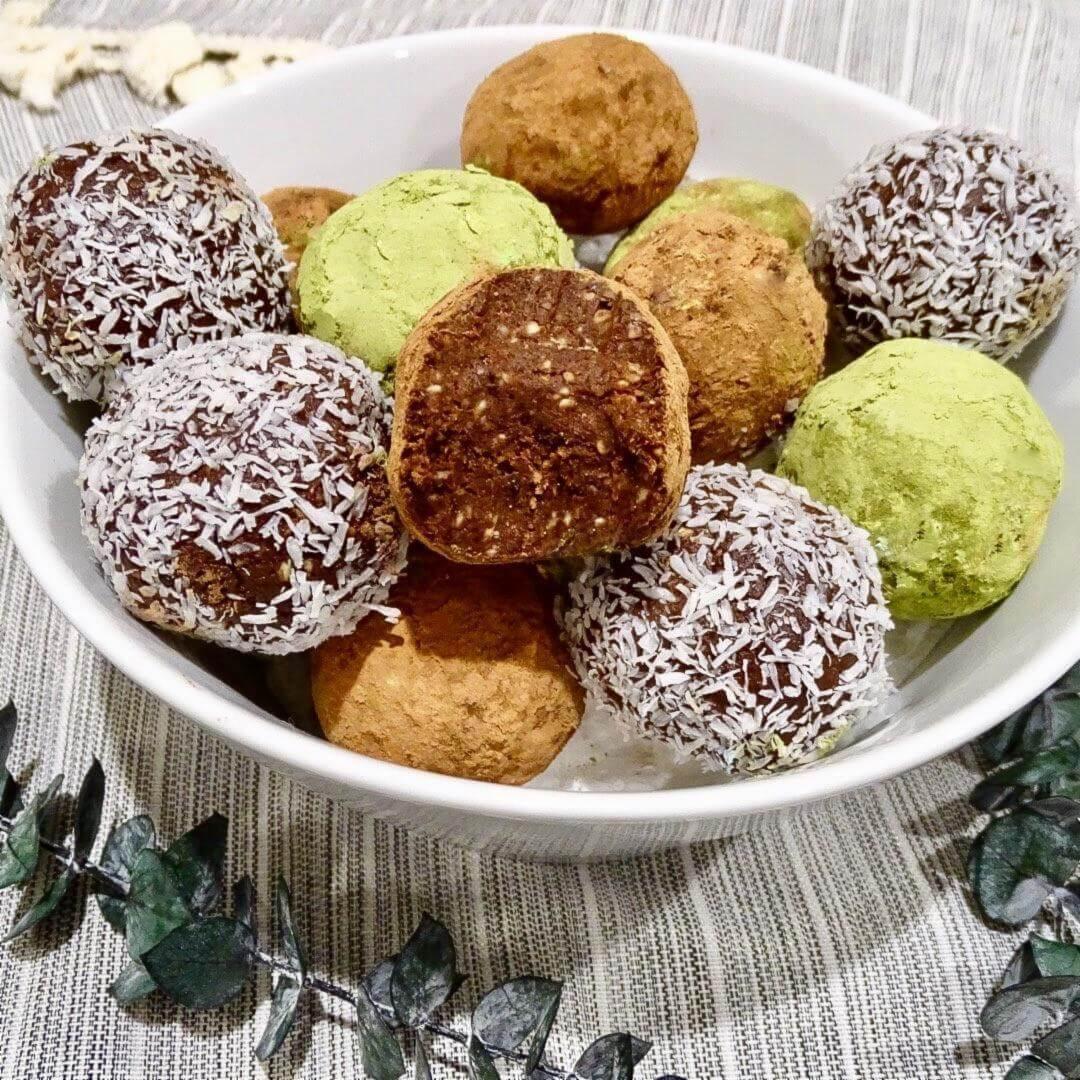 Cacao Matcha Truffles