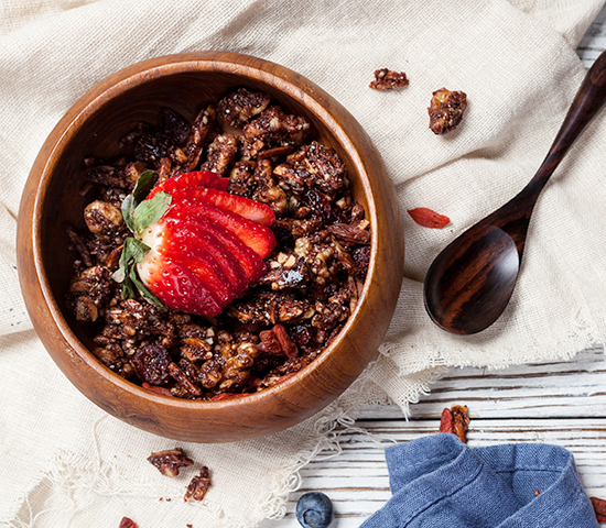 Chocolate Goji Granola