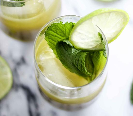Ginger Mint Matcha Cocktail