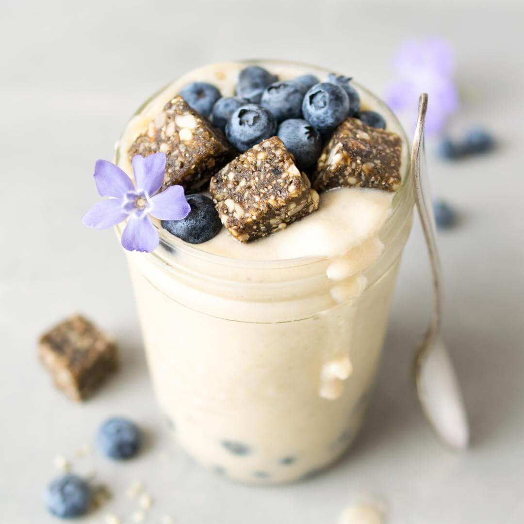 Maca Blueberry Power Snack Smoothie