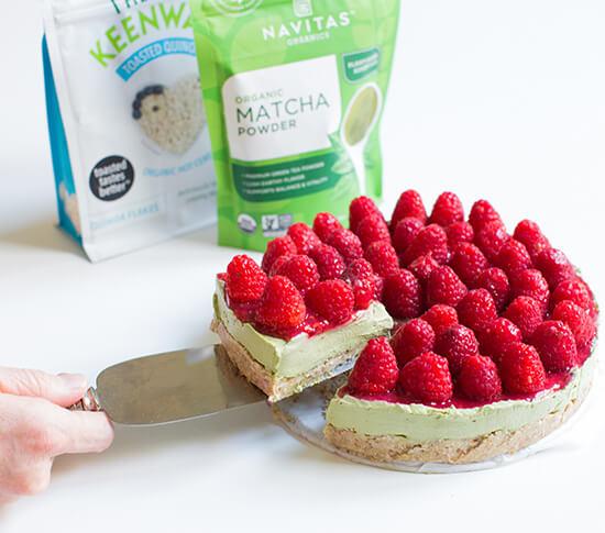 Matcha Cheesecake with Quinoa Crust