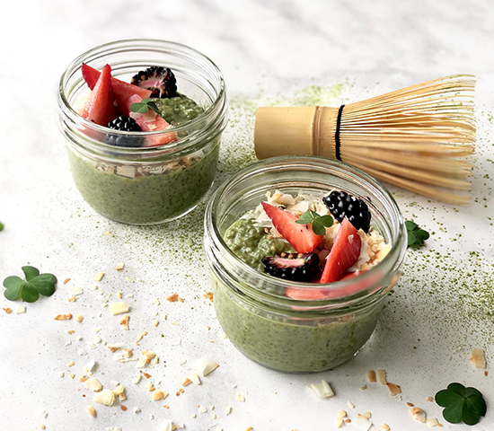Matcha Chia Coconut Pudding