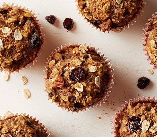 Cranberry-Orange Oatmeal Muffins