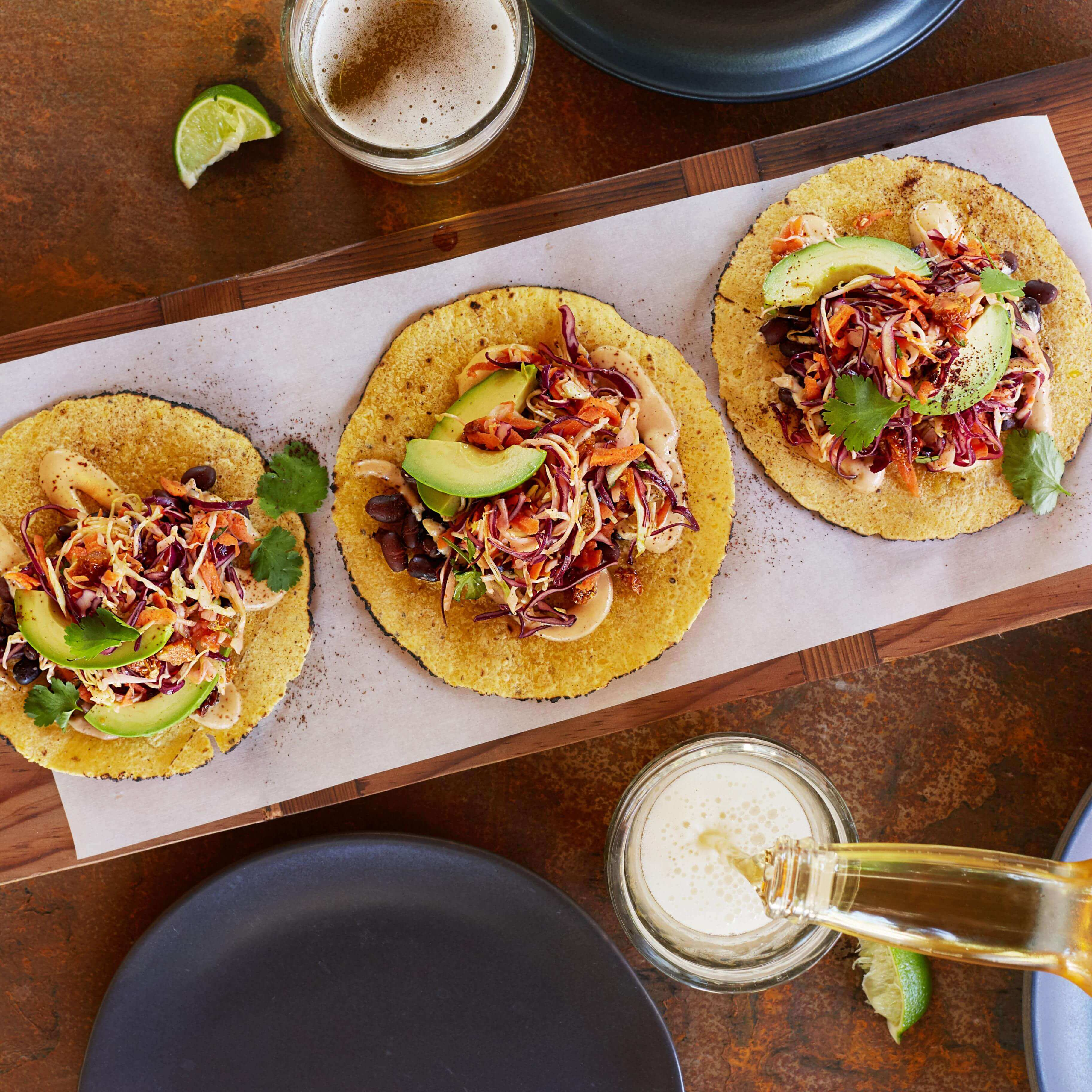 Black Bean Tacos with Goldenberry Slaw
