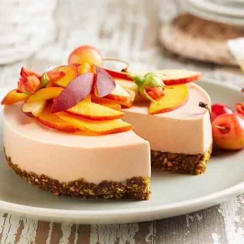 Peach Pistachio Cheesecake