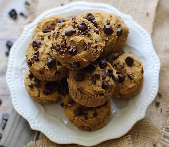 Pumpkin Cacao Cranberry Muffins